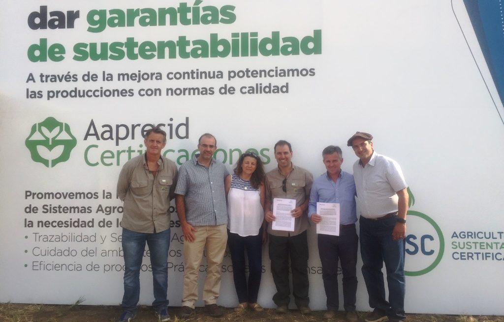 Representantes ministeriales y de la Asociación en ExpoAgro